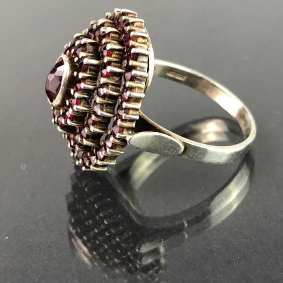 Opulent ladies ring with Bohemian Grenades. Very nice. The art Nouveau style. - photo 2