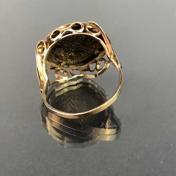 """Дамы кольцо с монетой """"Роберт ф. Джон ф. Кеннеди"""". Сбор Желтого Золота 333. - фото 3"""