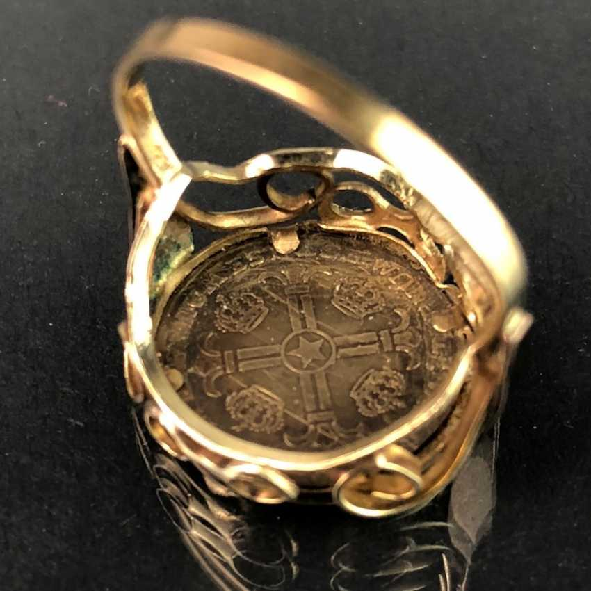 """Ladies ring with coin """"Robert F. John F Kennedy"""". Version Yellow Gold 333. - photo 4"""