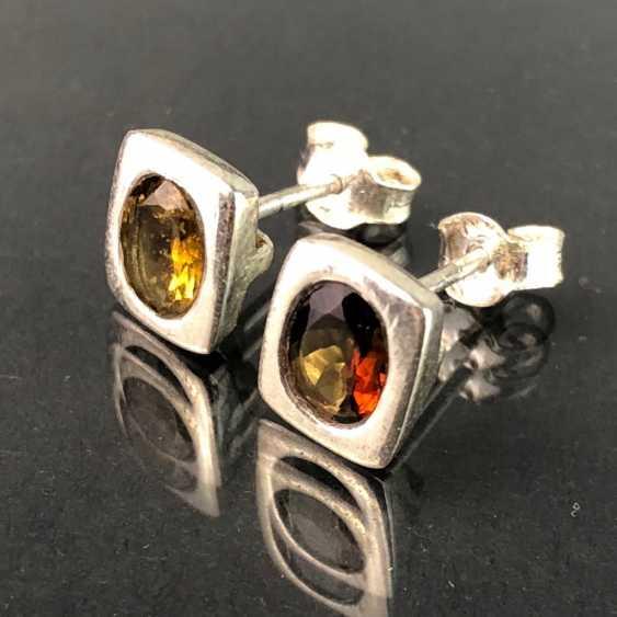 Элегантные серьги: турмалин в серебре. - фото 1
