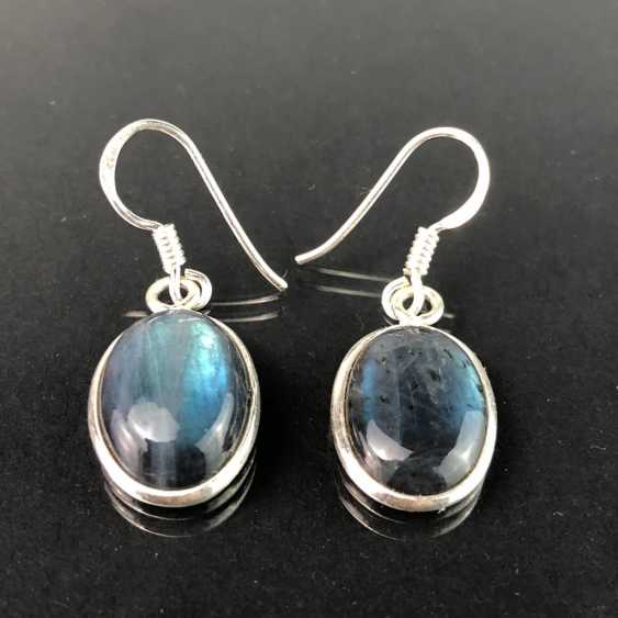 Earrings: labradorite in silver. - photo 1