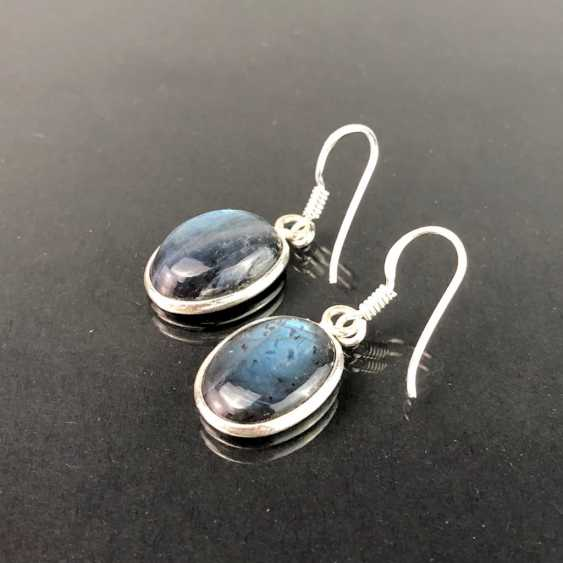 Earrings: labradorite in silver. - photo 2