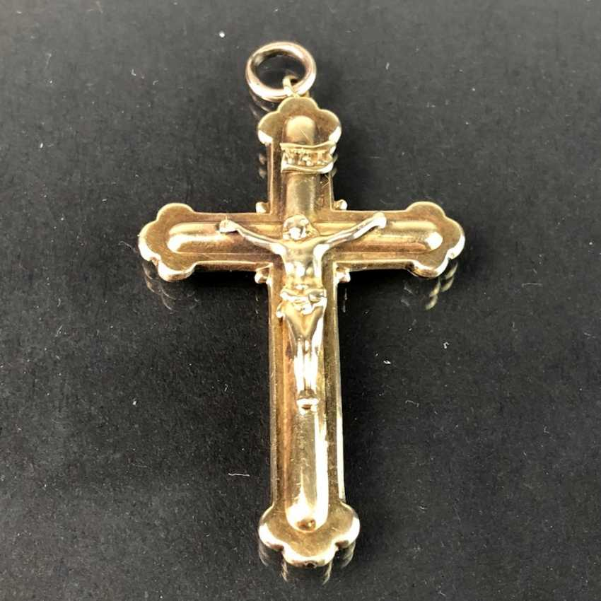 The cross pendant. Yellow gold 333. - photo 1