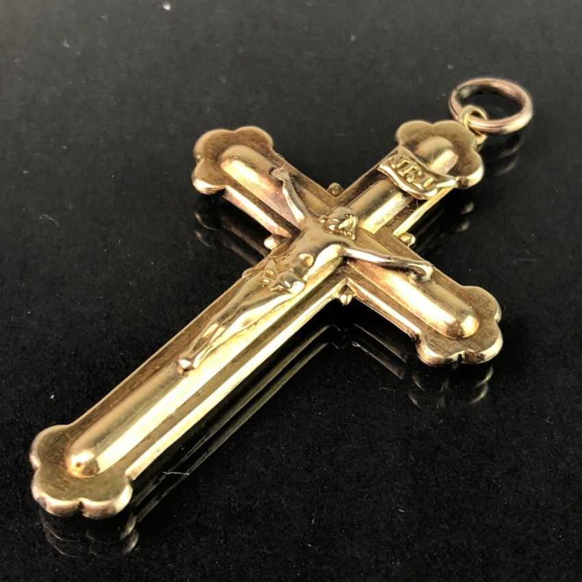 The cross pendant. Yellow gold 333. - photo 2