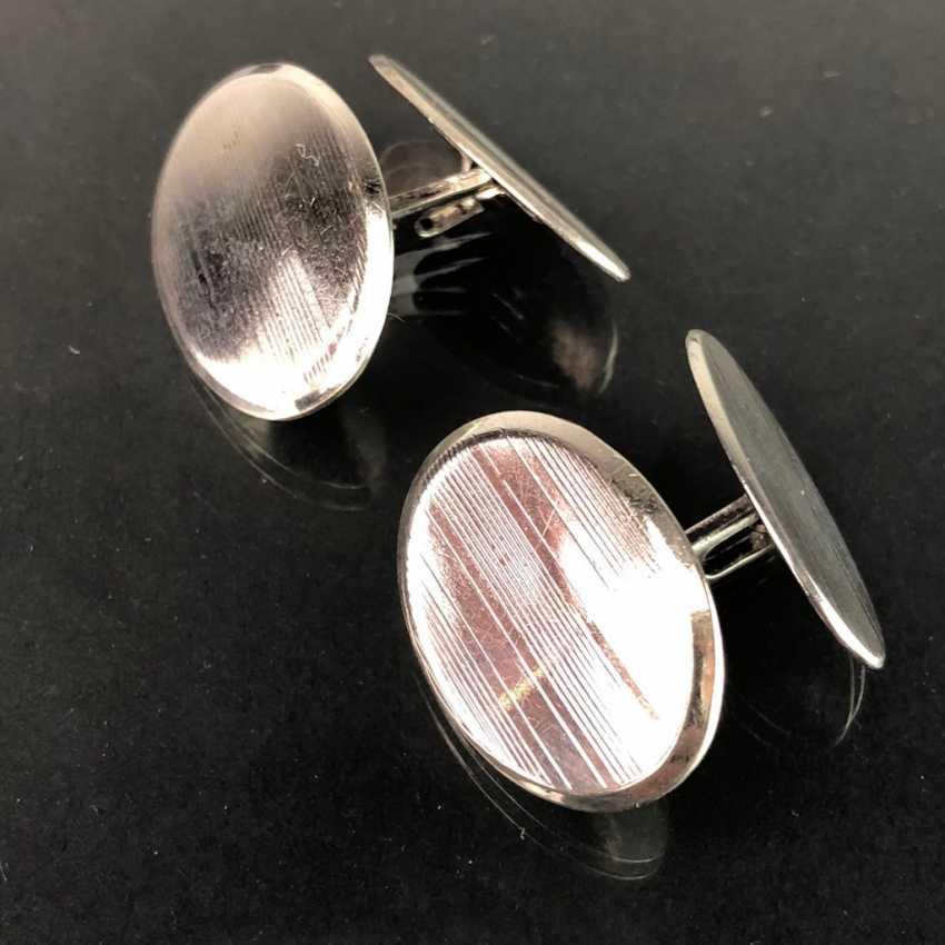 Intemporel, les boutons de Manchette, en Argent 835, Gravure élégante, très solide, très bien. - photo 1