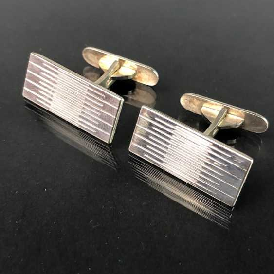 Timeless cufflinks, silver 835, elegant engraving, very solid, very good. - photo 1