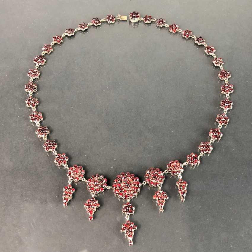 Opulent Necklace: Bohemian Garnets. Art Nouveau 1920. - photo 7