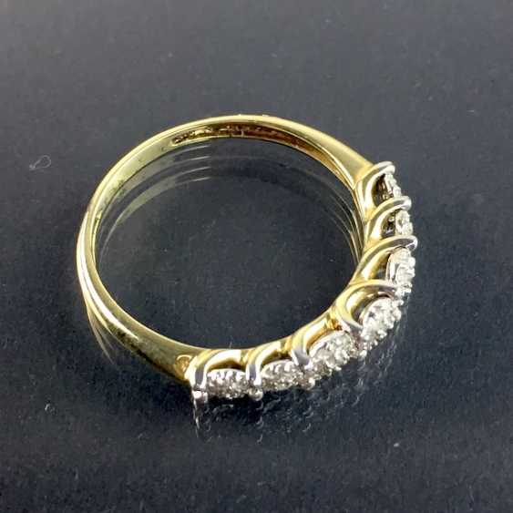 Ladies Ring / half eternity Ring: yellow gold and white gold 585, total 0.75 carats, very good. - photo 4