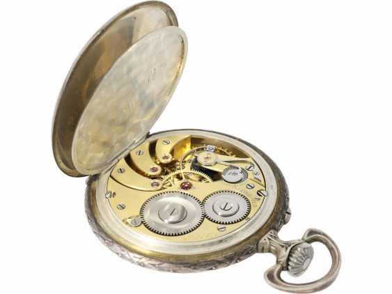 Pocket watch: rare, fine art Deco, art Nouveau Schützenuhr Longines, Bern, 1910 - photo 5