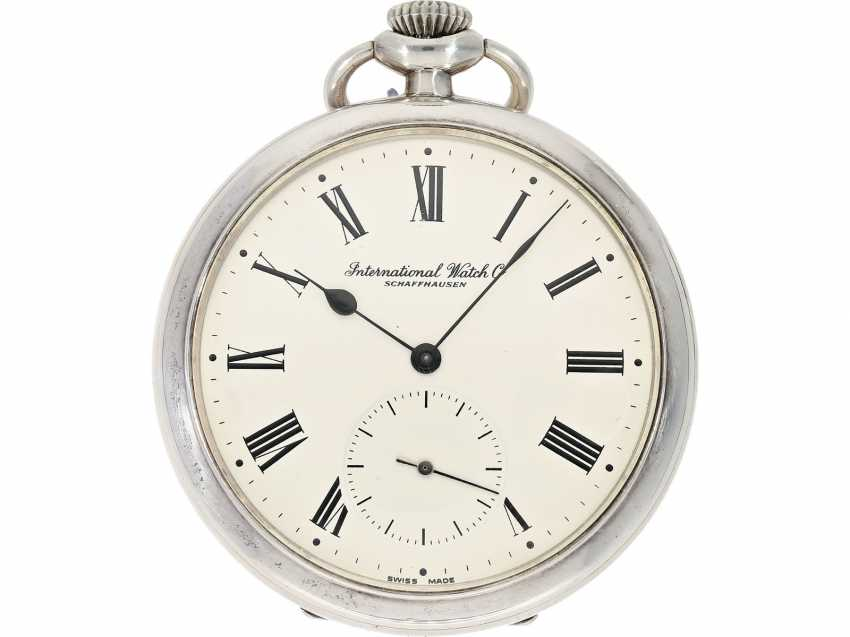 Pocket watch: beautiful silver Lepine of the brand IWC, reference to 135, with matching watch chain, from the year 1930, with the master excerpt from the book - photo 4