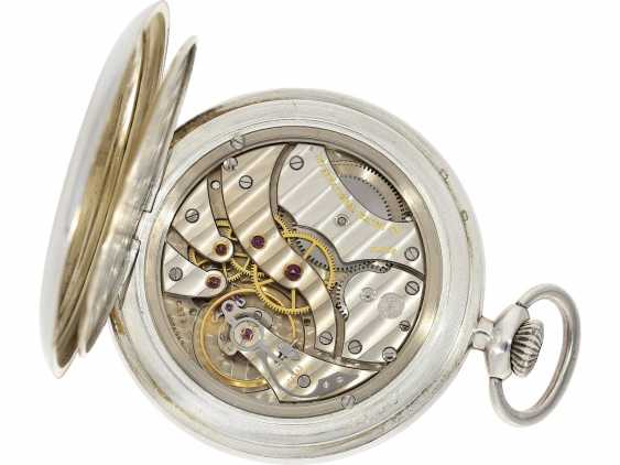 Pocket watch: beautiful silver Lepine of the brand IWC, reference to 135, with matching watch chain, from the year 1930, with the master excerpt from the book - photo 5