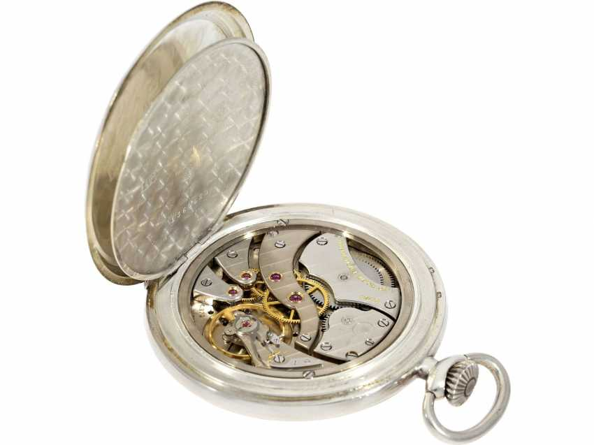 Pocket watch: beautiful silver Lepine of the brand IWC, reference to 135, with matching watch chain, from the year 1930, with the master excerpt from the book - photo 6