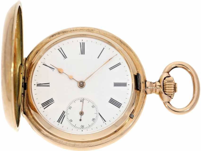 Pocket watch: very beautiful and well-preserved, 14K Gold half-savonnette of the IWC brand from the year 1891, with the master excerpt from the book - photo 2