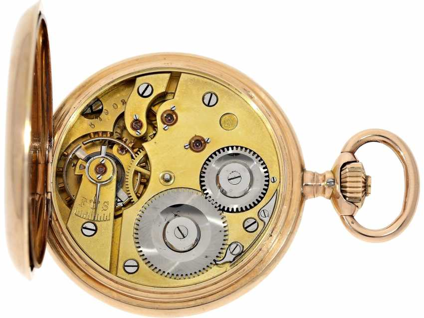 Pocket watch: very beautiful and well-preserved, 14K Gold half-savonnette of the IWC brand from the year 1891, with the master excerpt from the book - photo 3