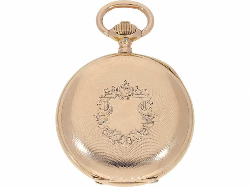 Pocket watch: very beautiful and well-preserved, 14K Gold half-savonnette of the IWC brand from the year 1891, with the master excerpt from the book - photo 5