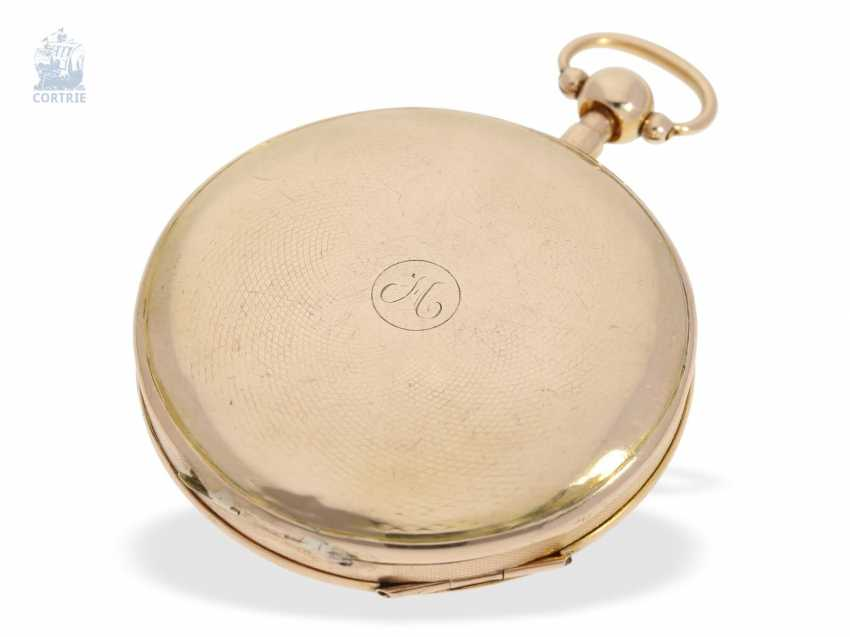 Pocket watch: fine, large French Cylinder watch with Repetition, Charles Oudin, Elève de Breguet, 52 Palais Royal, Paris, No. 5101, CA. 1815 - photo 3