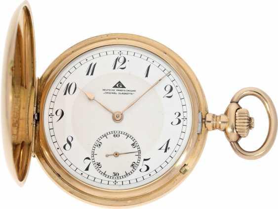 Pocket watch: a beautiful classic 14K Gold Savonnette, German precision watch, Original Glashütte, No. 208789, CA. 1918 - photo 1