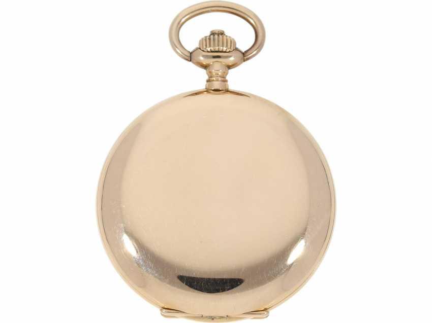 Pocket watch: a beautiful classic 14K Gold Savonnette, German precision watch, Original Glashütte, No. 208789, CA. 1918 - photo 2