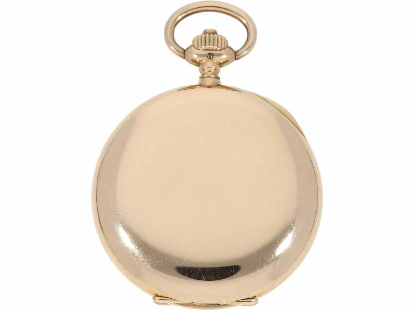Pocket watch: a beautiful classic 14K Gold Savonnette, German precision watch, Original Glashütte, No. 208789, CA. 1918 - photo 3