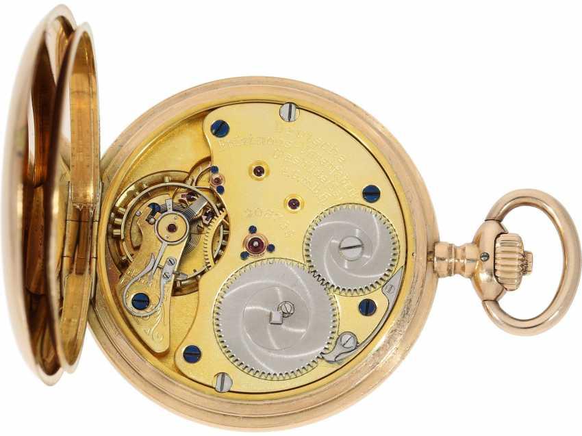 Pocket watch: a beautiful classic 14K Gold Savonnette, German precision watch, Original Glashütte, No. 208789, CA. 1918 - photo 4