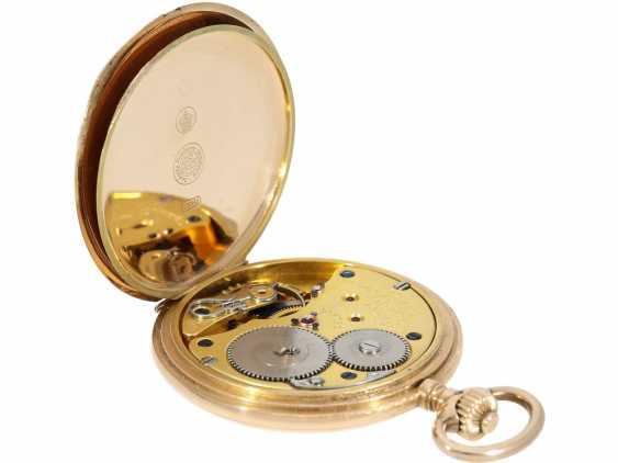 Pocket watch: a beautiful classic 14K Gold Savonnette, German precision watch, Original Glashütte, No. 208789, CA. 1918 - photo 5