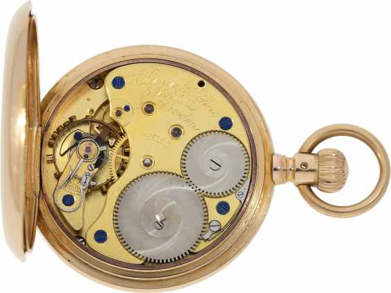 Pocket watch: high-quality, heavy A. Lange & Söhne Glashütte gold savonnette with original box and original papers from 1904 - photo 3