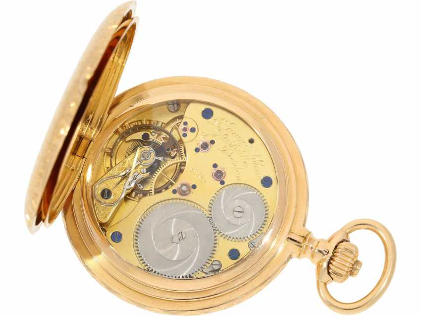 Pocket watch: an impressive, extremely heavy glashütte rose gold-luxury watch with the unique original housing decoration, Anchor chronometer A. Lange & Sohne No. 60762 1908, with the master excerpt from the book - photo 4