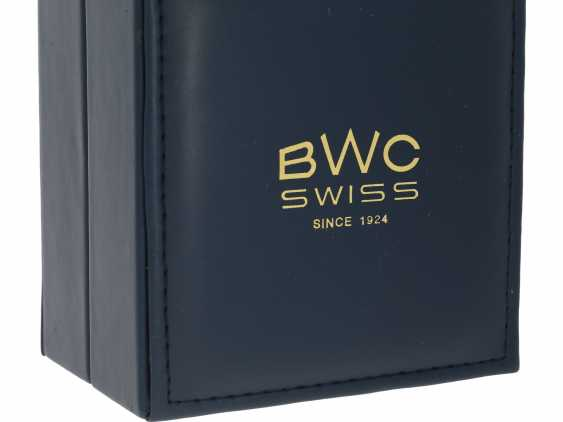 Watch: very rare, large, Chronograph with full calendar and moon phase, BWC Suisse, 50s, with Box and original papers - photo 6
