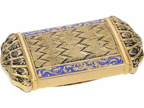 Can: fine antique Gold and enamel snuff box, stamp 1807-1812, probably Italy - photo 2