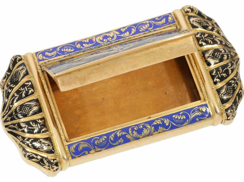 Can: fine antique Gold and enamel snuff box, stamp 1807-1812, probably Italy - photo 3