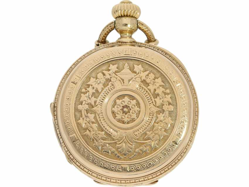 Pocket watch: unique, interesting Pocket chronometer with early crown lift, LaForge Geneve No. 13278, built for a Spanish noble house, probably around 1860 - photo 3