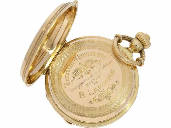 Pocket watch: unique, interesting Pocket chronometer with early crown lift, LaForge Geneve No. 13278, built for a Spanish noble house, probably around 1860 - photo 5