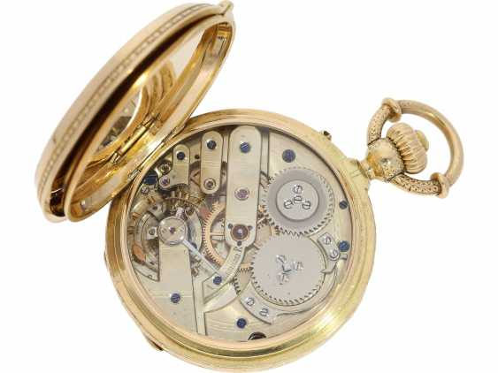 Pocket watch: unique, interesting Pocket chronometer with early crown lift, LaForge Geneve No. 13278, built for a Spanish noble house, probably around 1860 - photo 6