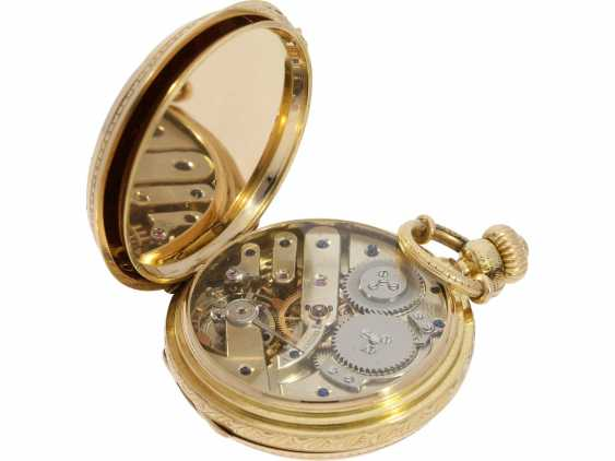 Pocket watch: unique, interesting Pocket chronometer with early crown lift, LaForge Geneve No. 13278, built for a Spanish noble house, probably around 1860 - photo 7