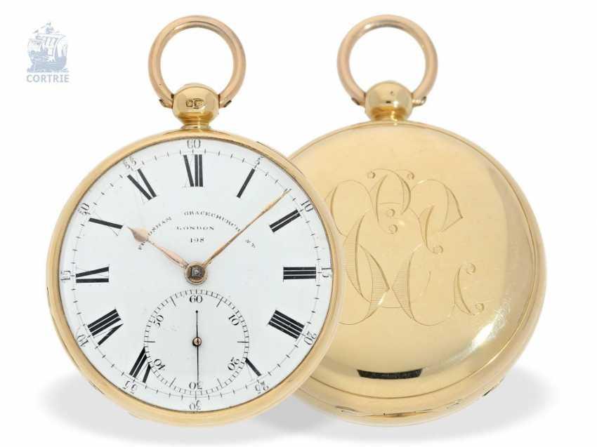 Pocket watch: a particularly heavy Pocket chronometer, signed Frodsham, London, No. 198, Hallmark 1824 - photo 1