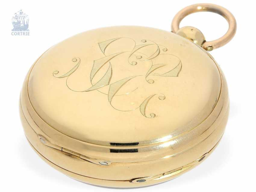 Pocket watch: a particularly heavy Pocket chronometer, signed Frodsham, London, No. 198, Hallmark 1824 - photo 2
