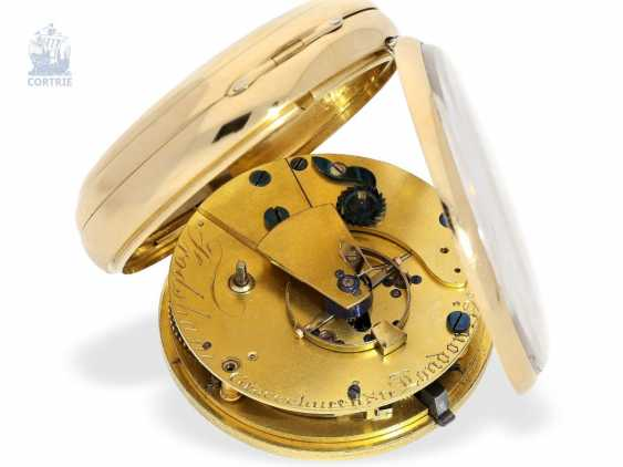 Pocket watch: a particularly heavy Pocket chronometer, signed Frodsham, London, No. 198, Hallmark 1824 - photo 4