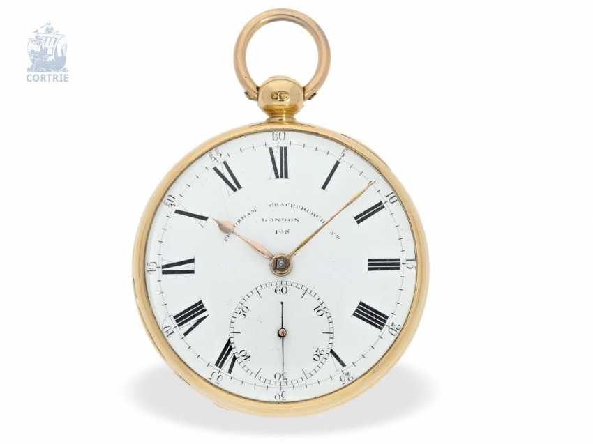 Pocket watch: a particularly heavy Pocket chronometer, signed Frodsham, London, No. 198, Hallmark 1824 - photo 5
