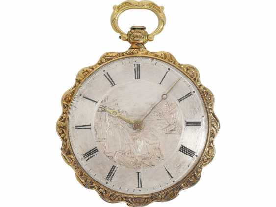 Pocket watch/Anhängeuhr: exquisite Lepine with rare engraved dial, an important clockmaker, Antide Janvier, Horloger Mécanicien du Roy, Au(x), Louvre, No. 5188, CA. 1825 - photo 1