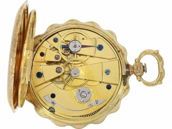 Pocket watch/Anhängeuhr: exquisite Lepine with rare engraved dial, an important clockmaker, Antide Janvier, Horloger Mécanicien du Roy, Au(x), Louvre, No. 5188, CA. 1825 - photo 4