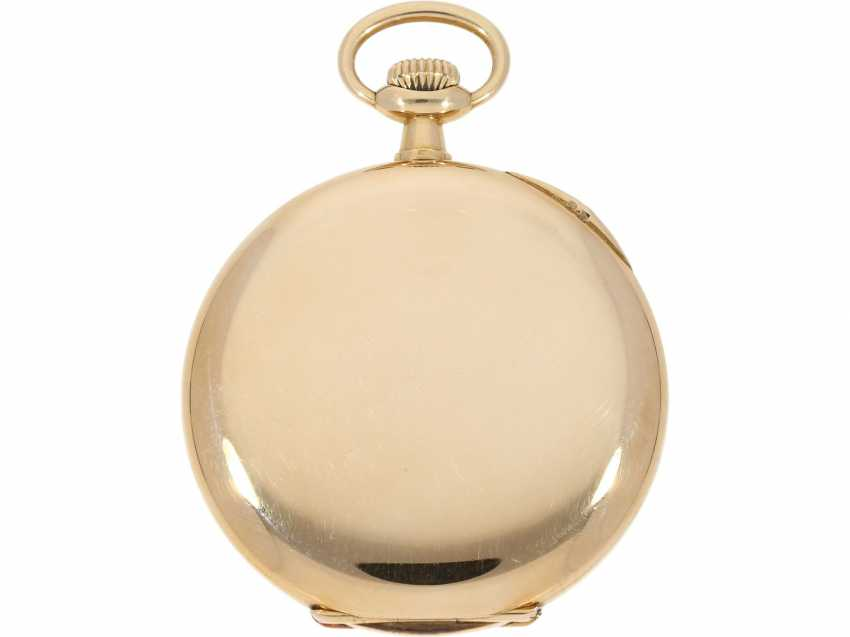 Pocket watch: very beautiful 14K Savonnette of the brand Patek Philippe, No. 162685, CA. 1900 - photo 2