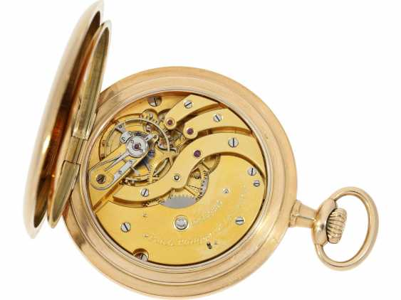 Pocket watch: very beautiful 14K Savonnette of the brand Patek Philippe, No. 162685, CA. 1900 - photo 4