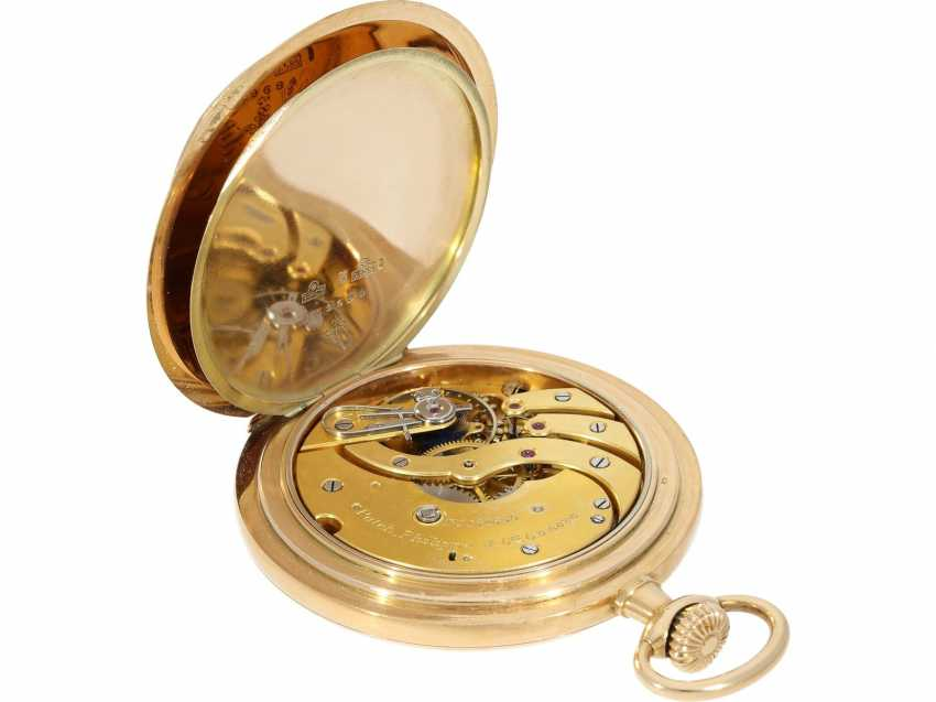 Pocket watch: very beautiful 14K Savonnette of the brand Patek Philippe, No. 162685, CA. 1900 - photo 5