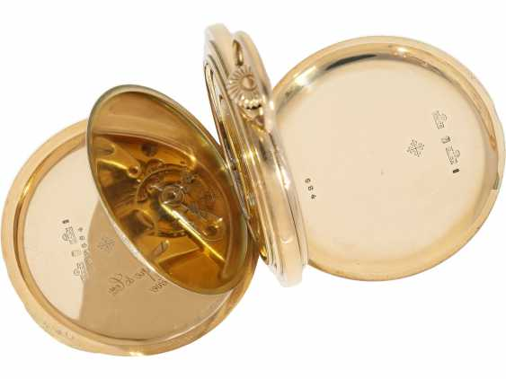 Pocket watch: very beautiful 14K Savonnette of the brand Patek Philippe, No. 162685, CA. 1900 - photo 7