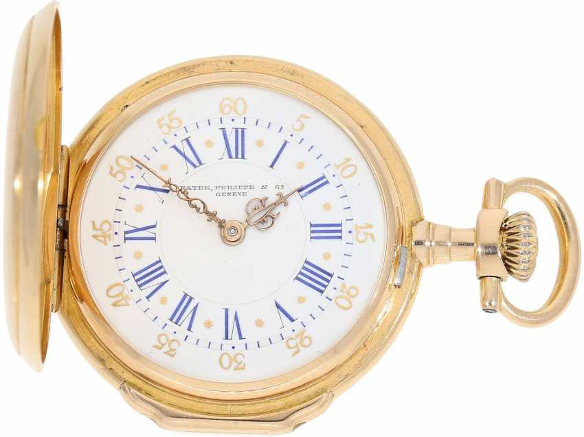 """Pocket watch: very rare Patek Philippe ladies savonnette """"Louis XV"""", No. 69928 delivered to Pleister in London, CA. 1885 - photo 1"""