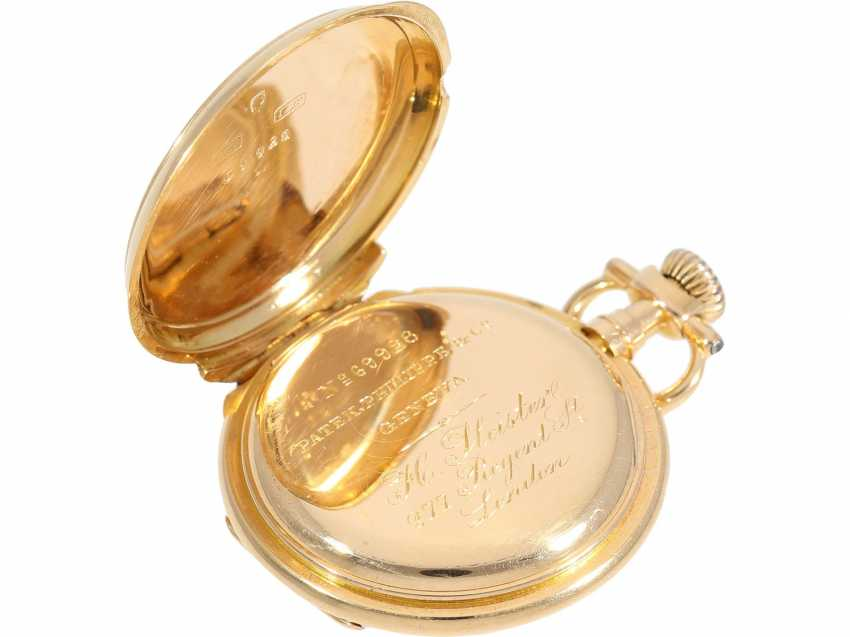 """Pocket watch: very rare Patek Philippe ladies savonnette """"Louis XV"""", No. 69928 delivered to Pleister in London, CA. 1885 - photo 7"""
