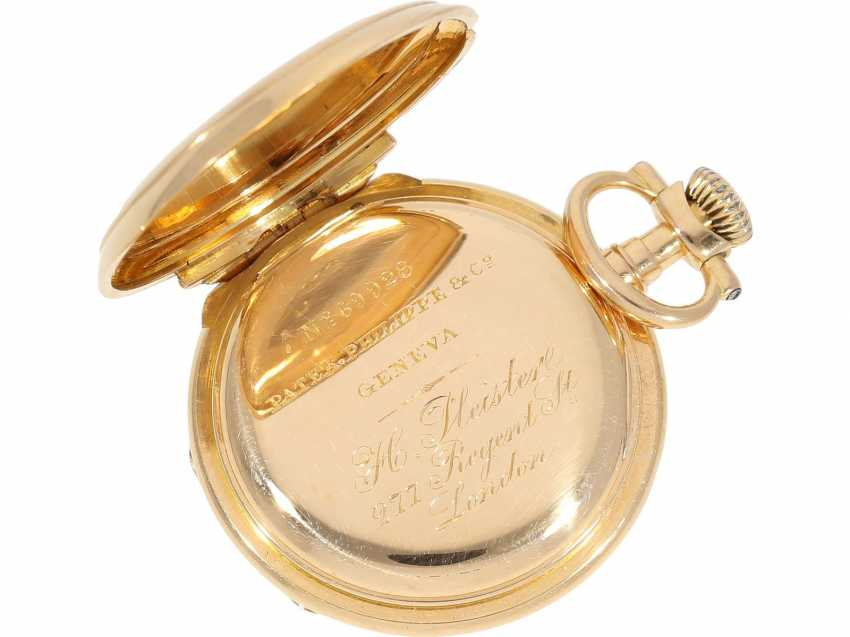 """Pocket watch: very rare Patek Philippe ladies savonnette """"Louis XV"""", No. 69928 delivered to Pleister in London, CA. 1885 - photo 8"""