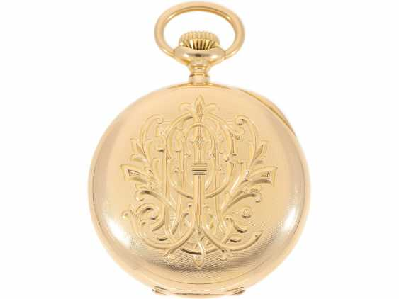 "Pocket watch: largest and heaviest version of a Patek Philippe chronometer ""Gondolo"" with rare double signature, No. 140424, CA. 1905 - photo 2"