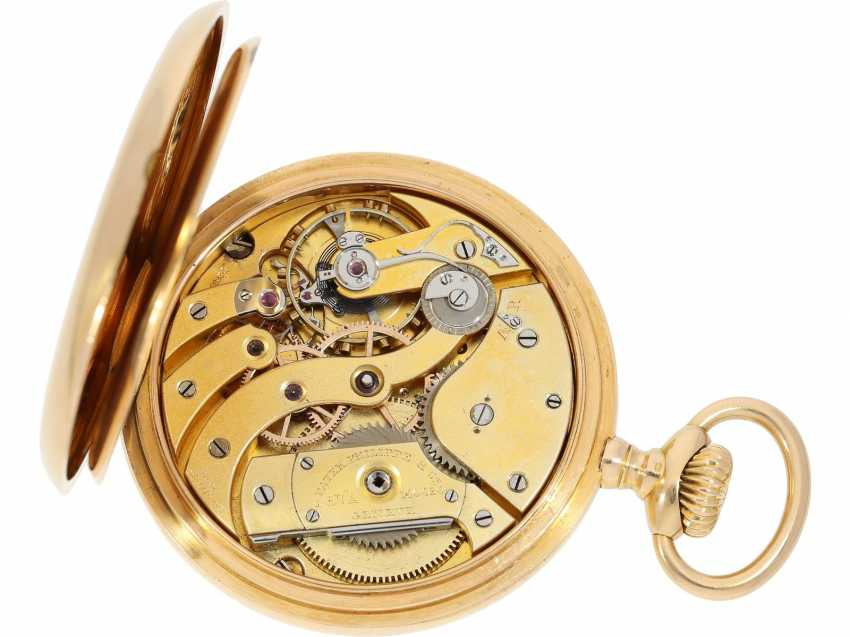 "Pocket watch: largest and heaviest version of a Patek Philippe chronometer ""Gondolo"" with rare double signature, No. 140424, CA. 1905 - photo 4"