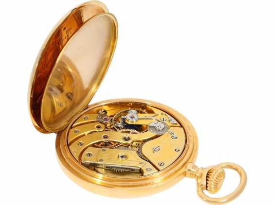 "Pocket watch: largest and heaviest version of a Patek Philippe chronometer ""Gondolo"" with rare double signature, No. 140424, CA. 1905 - photo 5"